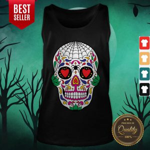 Colorful Mexican Sugar Skull Day Of The Dead Tank Top
