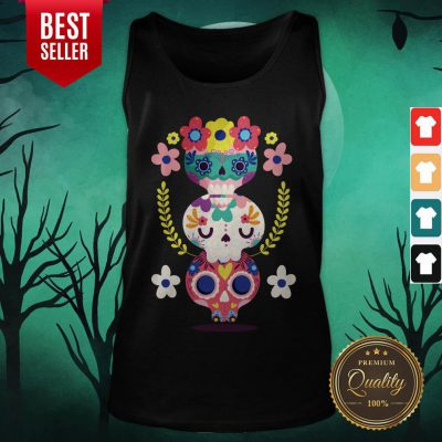 Triple Sugar Skull Colorful Day Of The Dead Tank Top