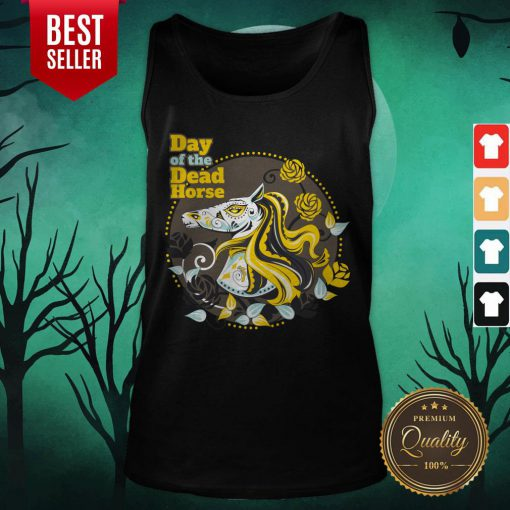 Day Of The Dead Horse Sugar Skull Tank Top