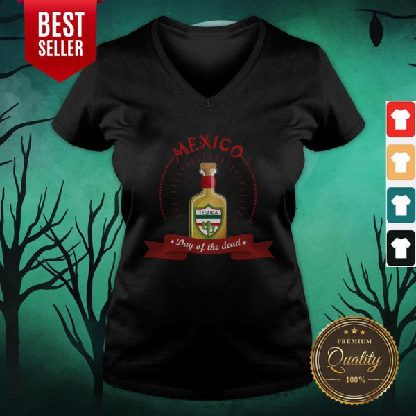 Mexico Tequila Day Of The Dead V-neck