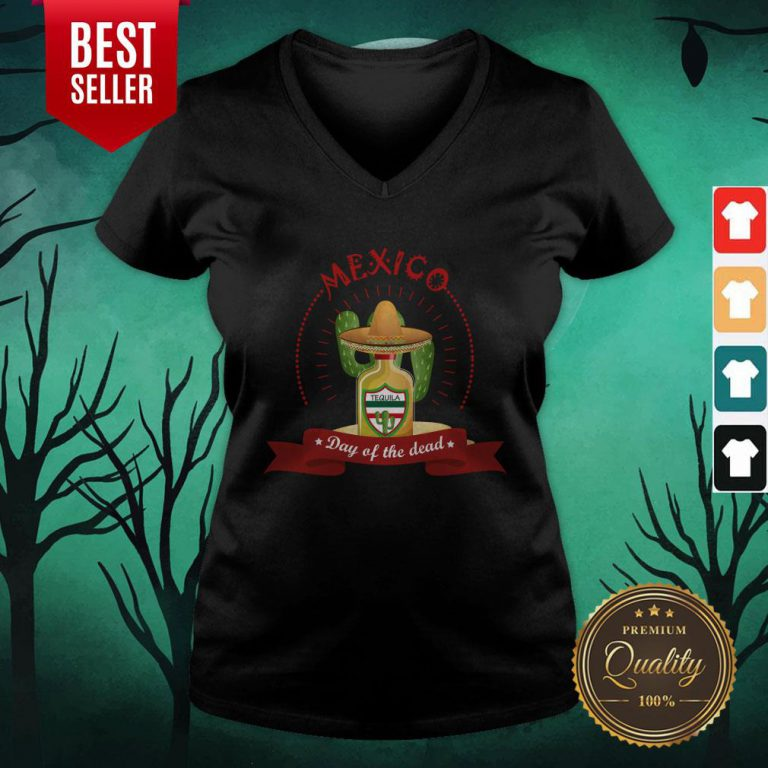 Day Of The Dead Tequila Mexican Holiday V-neck