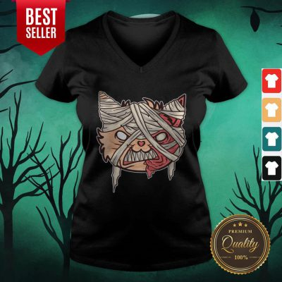Day Of The Dead Cat Halloween V-neck