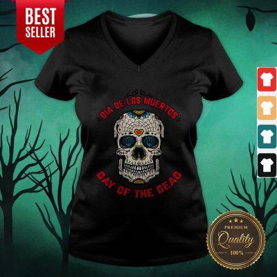 Mexico Sugar Skull Dia De Los Muertos Day Of The Dead V-neck