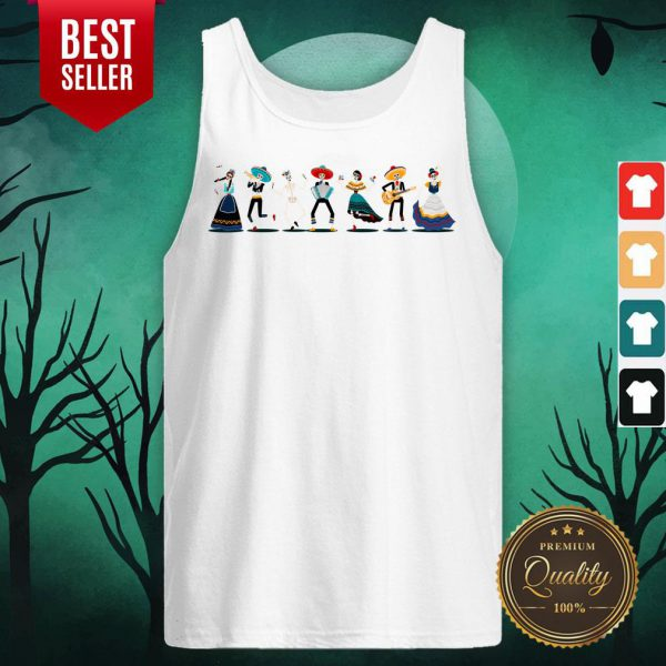 Day Of The Dead Skeleton Party Tank Top