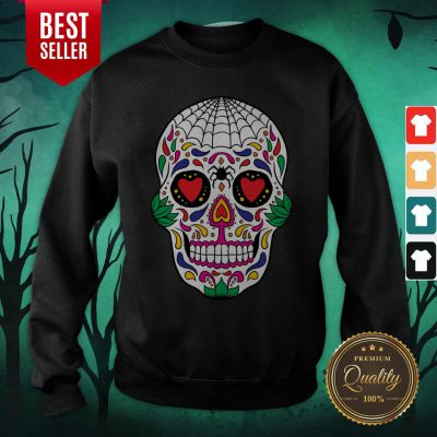 Colorful Mexican Sugar Skull Day Of The Dead Sweatshirt