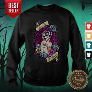 Feliz Dia De Muertos Pin-up Girl Sweatshirt