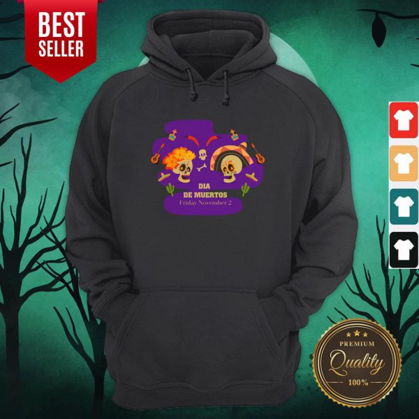 Sugar Skulls Couple Dia De Muertos Friday November 2 Hoodie