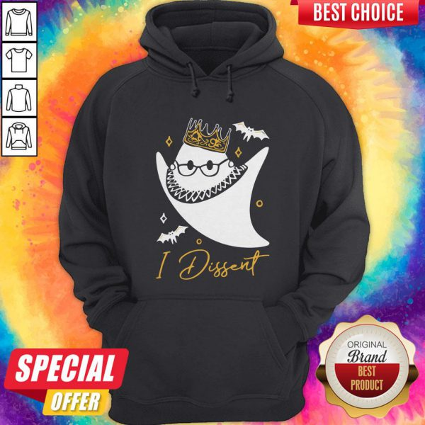 Funny RBG Ghost I Dissent Halloween Hoodie