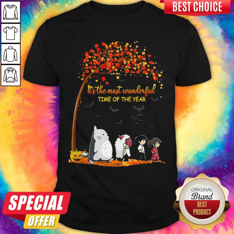 It's The Most Wonderful Time Of The Year Anime Characters Halloween Shirt