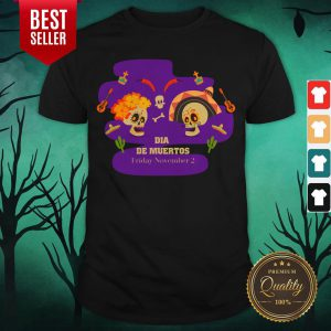 Sugar Skulls Couple Dia De Muertos Friday November 2 Shirt