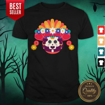 Skeleton Woman Day Of The Dead Muertos Shirt