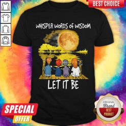 Whisper Words Of Wisdom Let It Be Guitar Moon Shirt