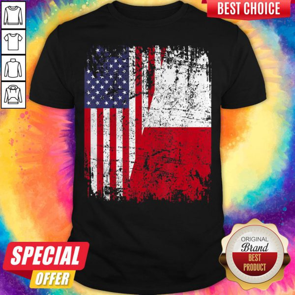 Official American And Poland Flag Shirt
