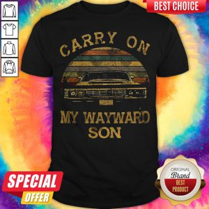 Carry On My Wayward Son Vintage Retro Shirt
