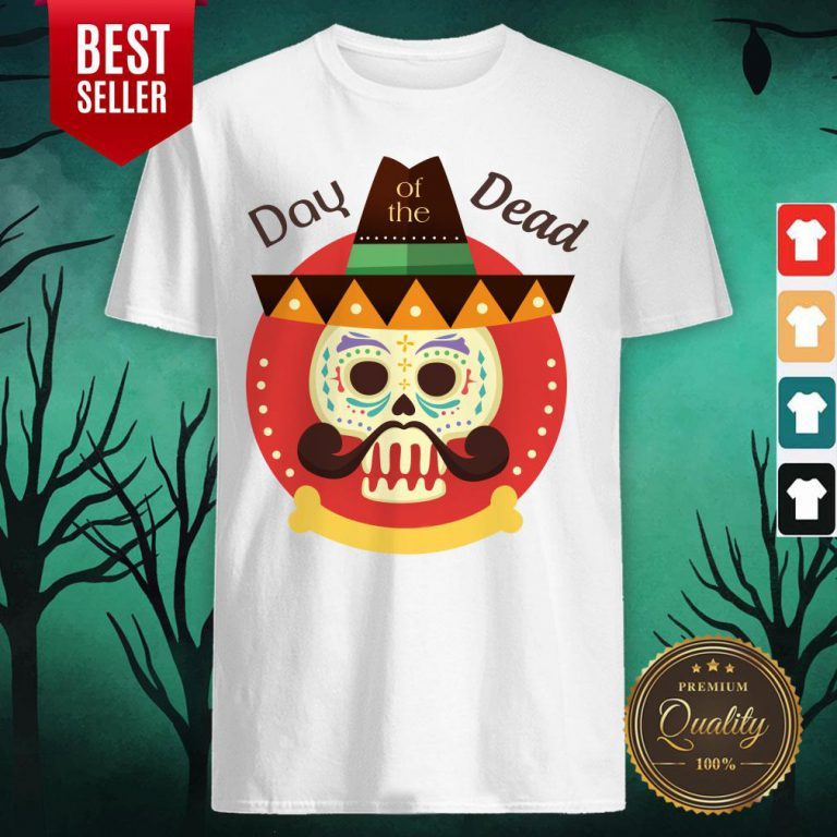 Day Of The Dead Sugar Skull In Mexican Holiday Shirt