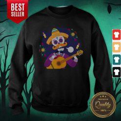 Dia De Muertos Day Of Dead Sugar Skeleton Play Guitar Sweatshirt