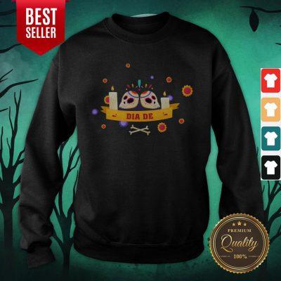 Dia De Muertos Sugar Skulls Happy Mexico Holiday Sweatshirt
