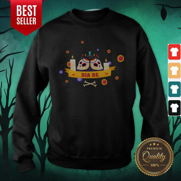 Dia De Muertos Sugar Skulls Happy Mexico Holiday Sweatshirt