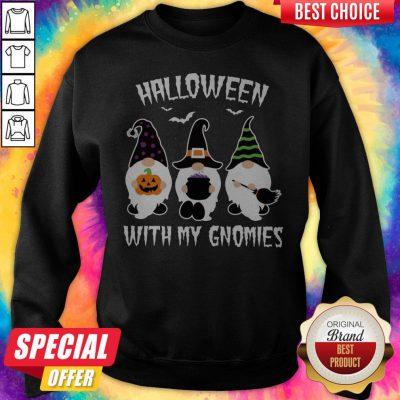 Grateful Halloween With My Gnomies Sweatshirt