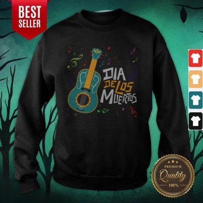Party Music Guitar Dia De Los Muertos Day Of Dead Sweatshirt