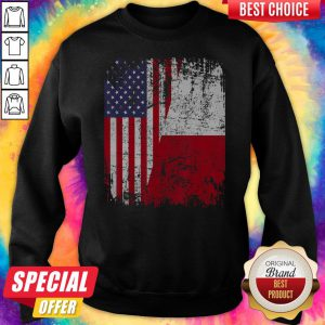 Official American And Poland Flag Sweatshirt