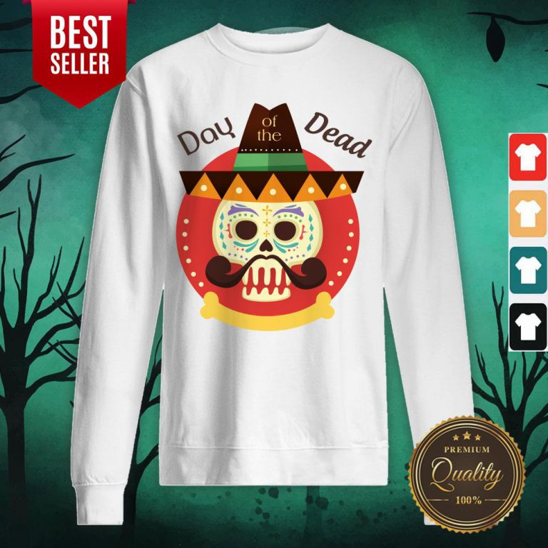 Day Of The Dead Sugar Skull In Mexican Holiday Sweatshirt