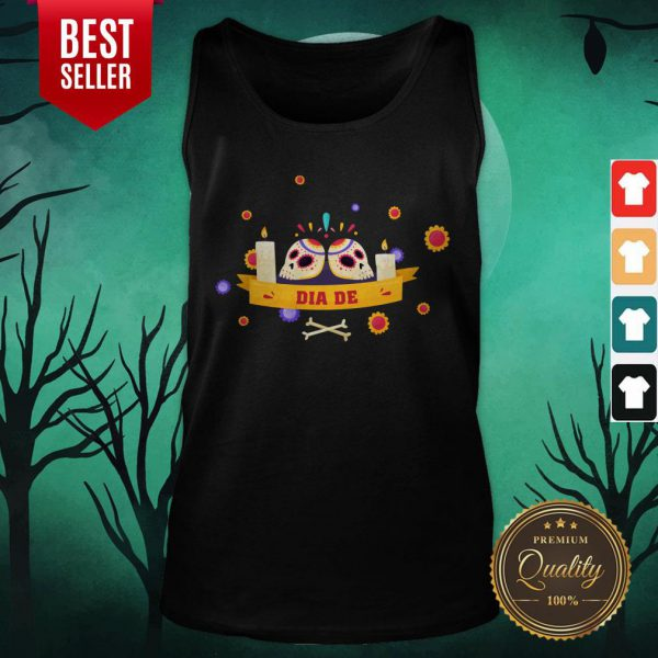 Dia De Muertos Sugar Skulls Happy Mexico Holiday Tank Top