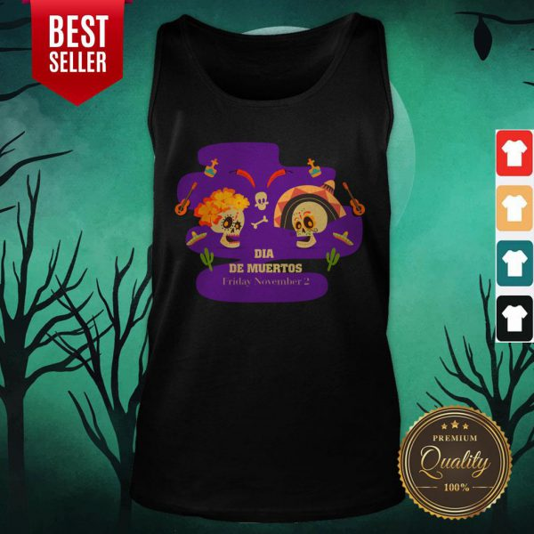 Sugar Skulls Couple Dia De Muertos Friday November 2 Tank Top