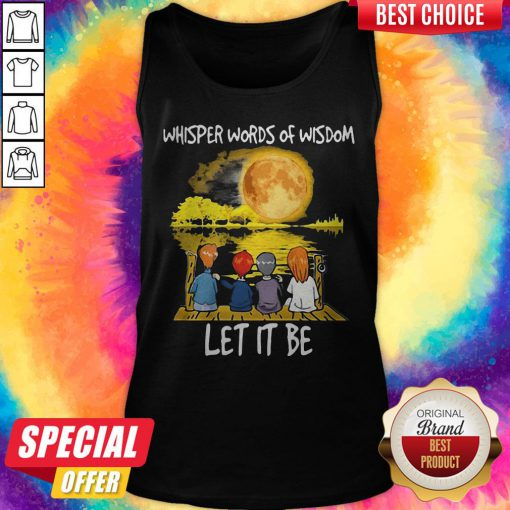 Whisper Words Of Wisdom Let It Be Guitar Moon Tank Top