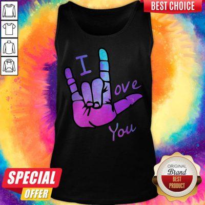 Grateful Sign Language I Love You Tank Top