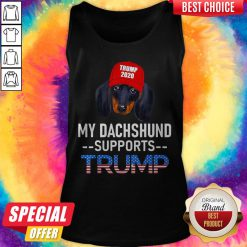 Funny My Dachshund Supports Trump 2020 Tank Top