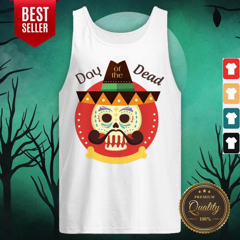 Day Of The Dead Sugar Skull In Mexican Holiday Tank Top