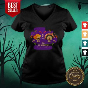 Sugar Skulls Couple Dia De Muertos Friday November 2 V-neck
