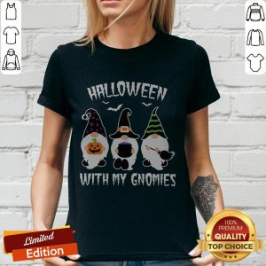 Grateful Halloween With My Gnomies V-neck