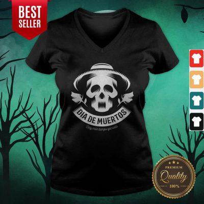 Skull Vintage Dia De Muertos Day Dead V-neck