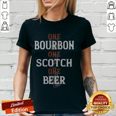 Top One Bourbon One Scotch One Beer V-neck
