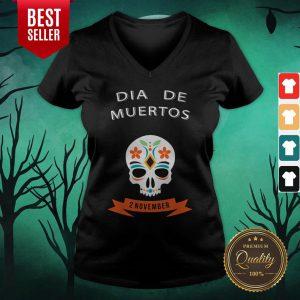 Dia De Muertos Sugar Skull 2 November V-neck