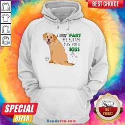 Awesome Bulldog I Didn't Fart My Butt Blew You A Kiss Hoodie- Design By Handstee.com