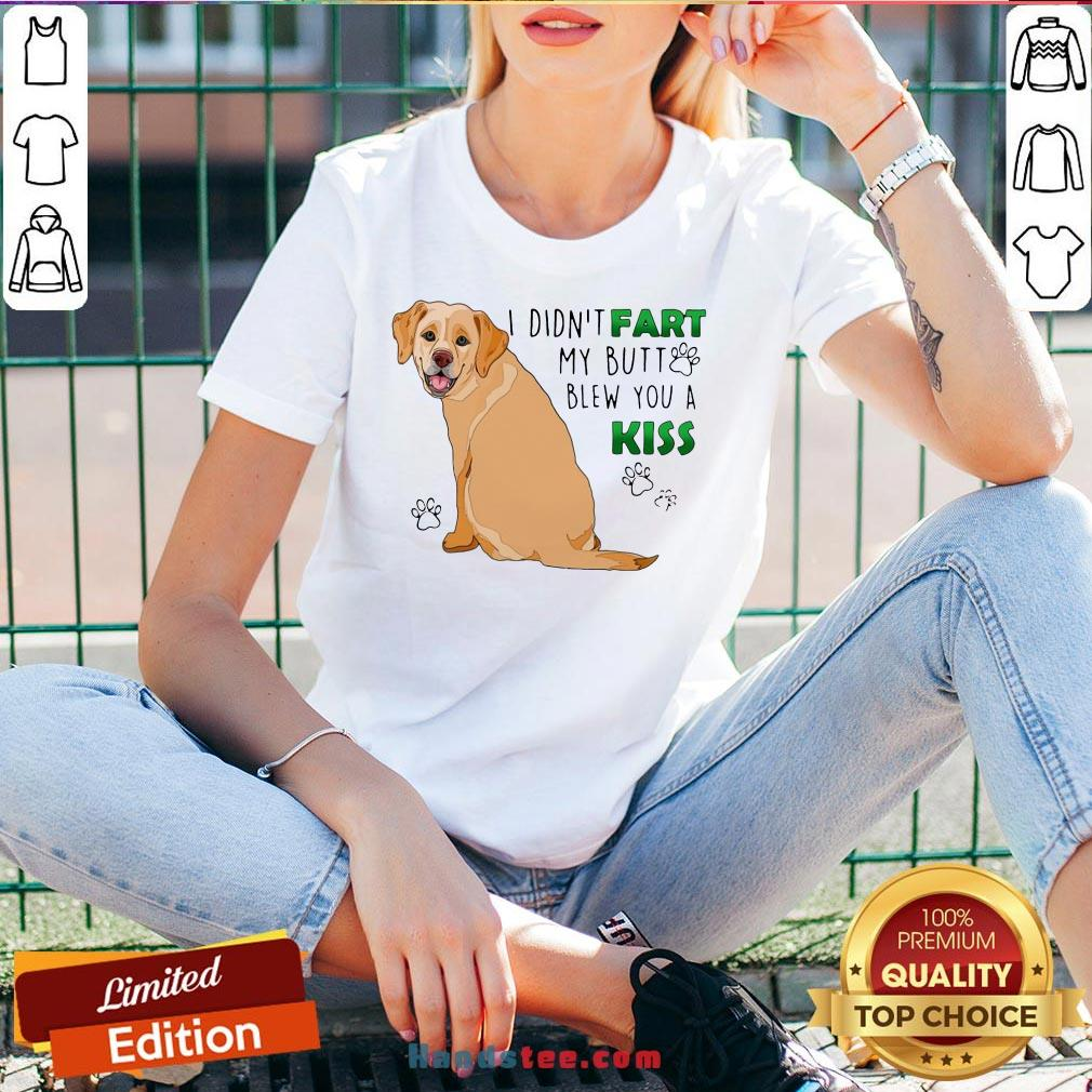 Awesome Bulldog I Didn't Fart My Butt Blew You A Kiss V-neck- Design By Handstee.com