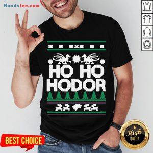 Awesome Ho Ho Hodor Ugly Christmas Shirt- Design By Handstee.com