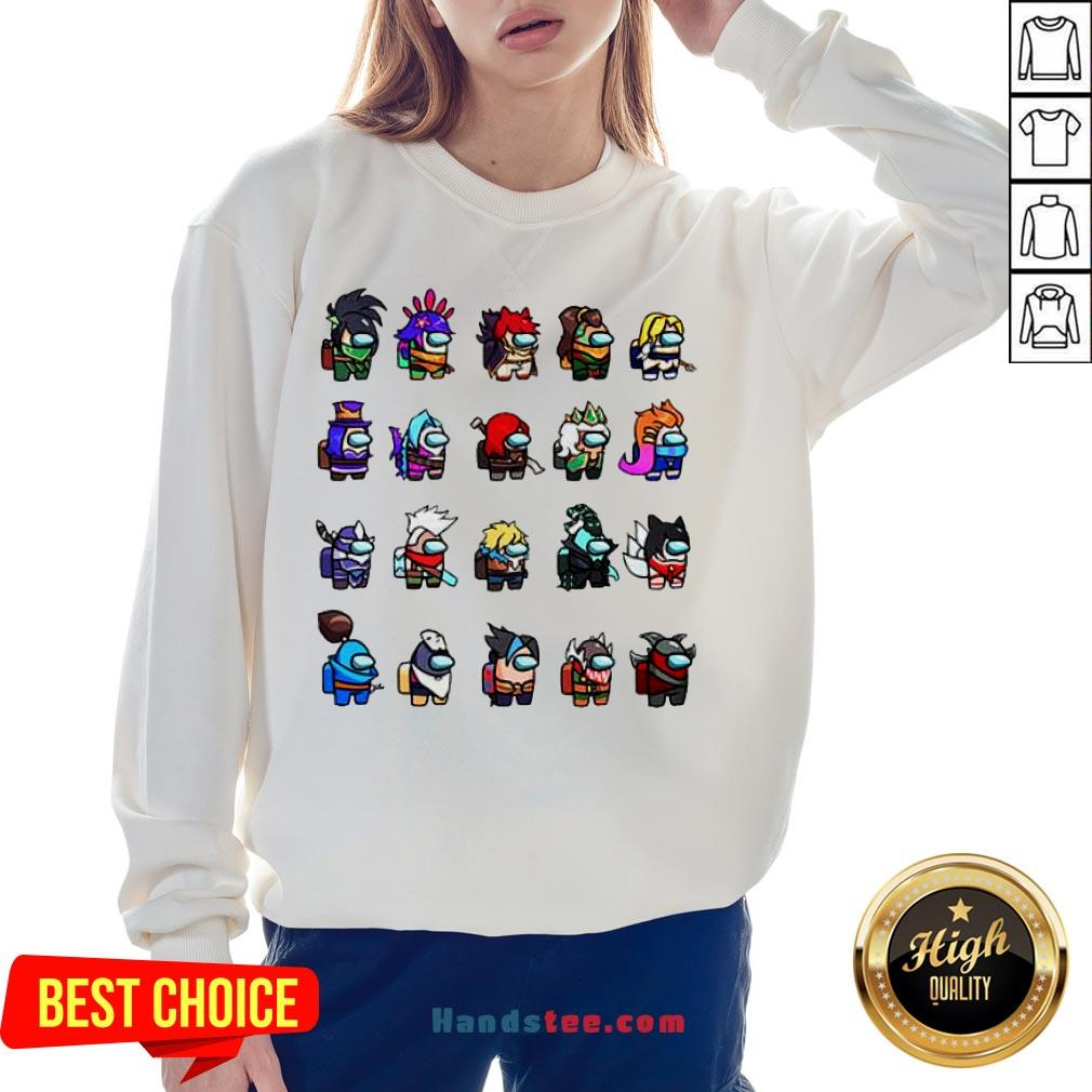 Funny Among Us X League Of Legends Games Sweatshirt-Design By Handstee.com
