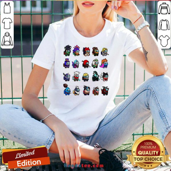 Funny Among Us X League Of Legends Games V-neck-Design By Handstee.com