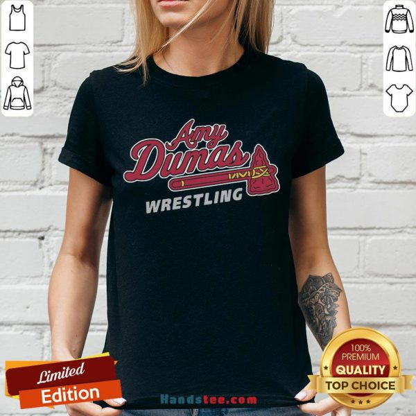 Funny Amy Dumas Wrestling V-neck- Design By Handstee.com
