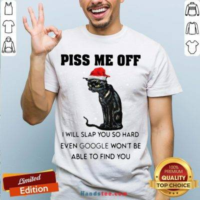 Funny Santa Black Cat Piss Me Off I Will Slap You So Hard Even Google Won't Be Able To Find You Christmas Sweater Shirt- Design By Handstee.com