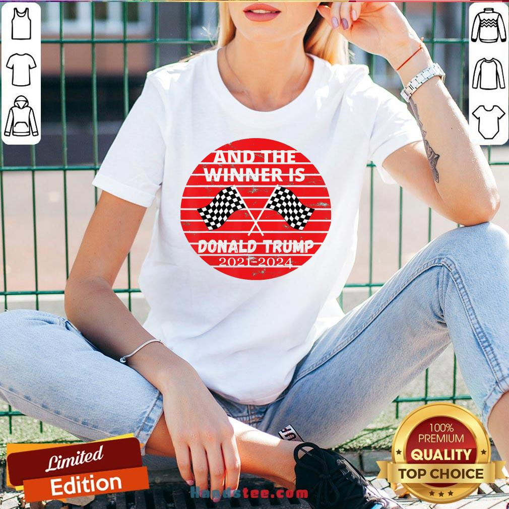 Good And The Winner Is Donald Trump In 2020 President Election Vote V-neck- Design By Handstee.com