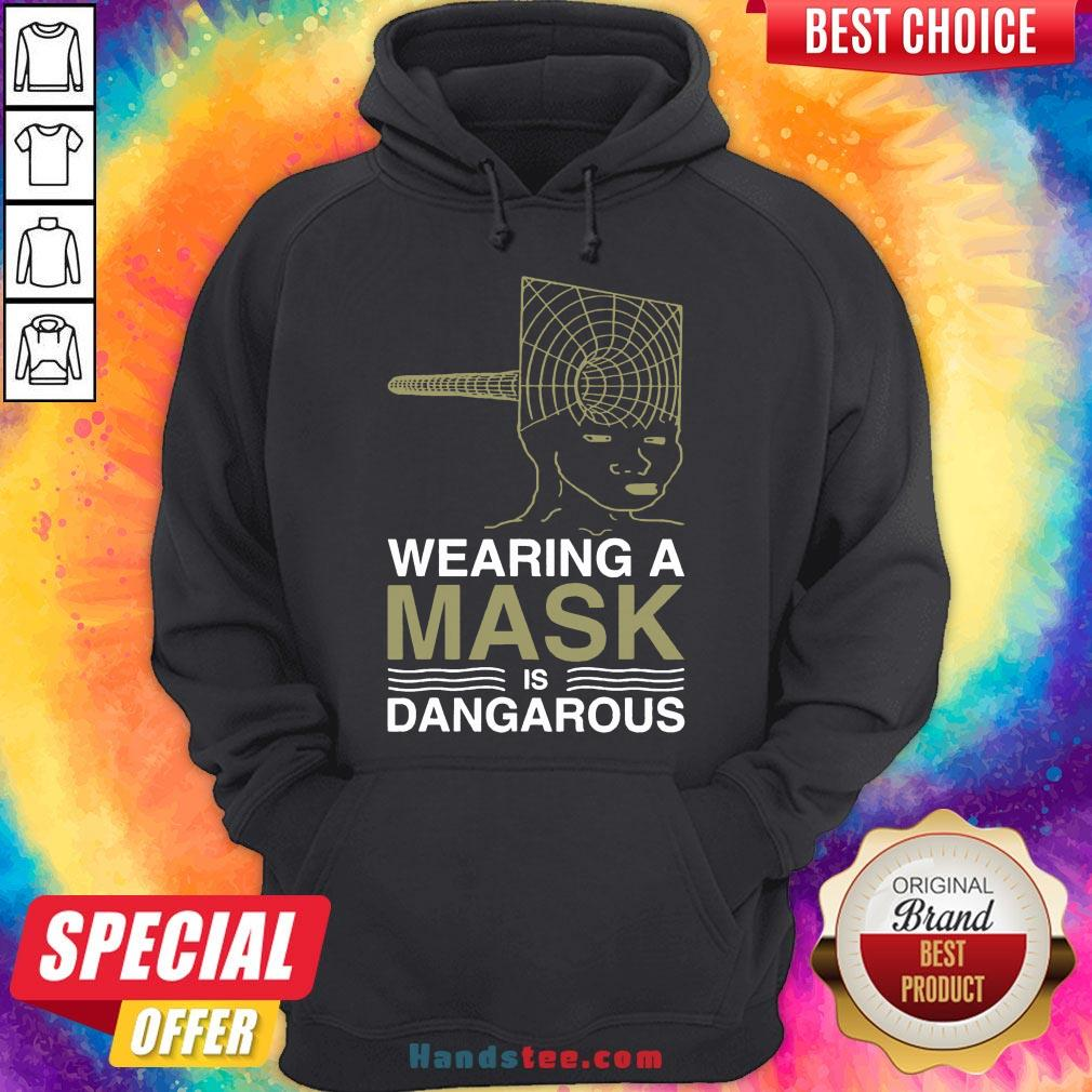 Good Wearing A Mask Meme Trollface Conspiracy Theory Hoodie- Design By Handstee.com