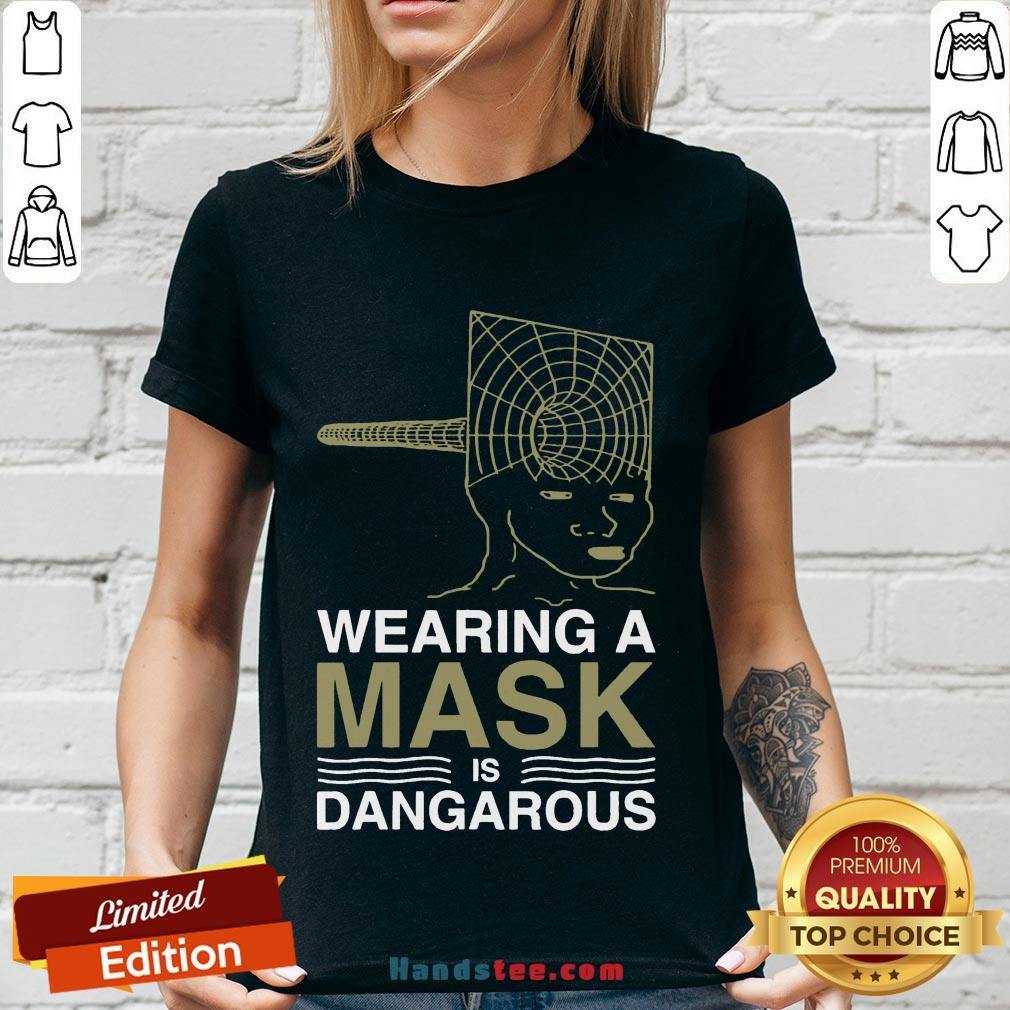 Good Wearing A Mask Meme Trollface Conspiracy Theory V-neck- Design By Handstee.com