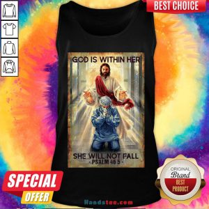 Happy God Is Within Her She Will Not Fall Psalm 46 5 Tank Top- Design By Handstee.com