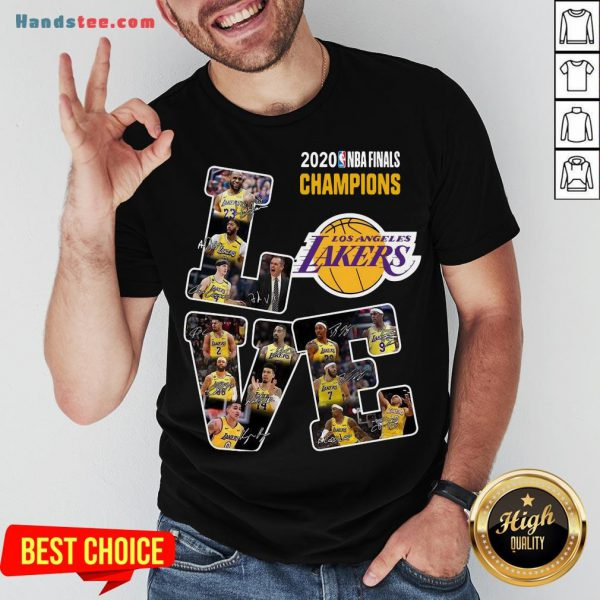 Happy Love Los Angeles Lakers 2020 Nba Finals Champions Signatures Shirt- Design By Handstee.com