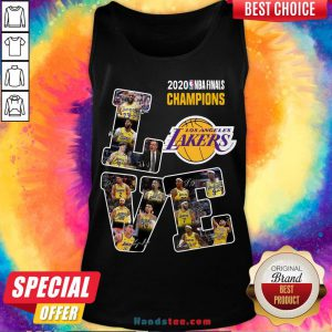Happy Love Los Angeles Lakers 2020 Nba Finals Champions Signatures Tank Top- Design By Handstee.com